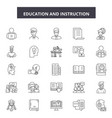 education and instructions line icons signs vector image vector image