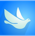 elegant dove icon vector image