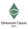 ethereum classic cryptocurrency symbol vector image vector image