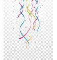 falling colorful ribbon and confetti vector image