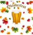 Festival Oktoberfest in the fall and beer vector image vector image
