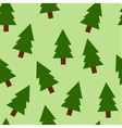 Fir trees seamless pattern vector image