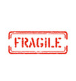 fragile isolated grunge box sign for cargo vector image vector image