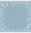 frame from falling snow effect vector image vector image