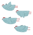 Funny Hen Flying Collection vector image vector image