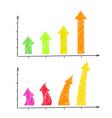 Hand-drawn arrows diagram vector image