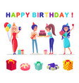 happy birthday celebration party present gifts vector image vector image