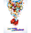 happy birthday colorful vector image
