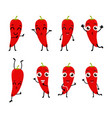 happy chili cartoon character vector image vector image