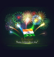 happy india independence day greeting card vector image vector image
