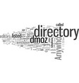 how to get listed on dmoz vector image vector image