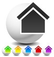 icon for house apartment rent home homepage vector image