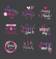 international women day badges on grey background vector image