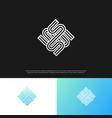 letter s monogram logo in a modern line style eps vector image vector image