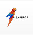 logo parrot gradient low poly style vector image