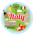love italy concept vector image vector image
