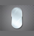 mirrors with blurry reflection mirror frames or vector image vector image