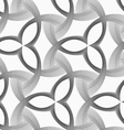 Monochrome three pedal flowers with striped vector image vector image