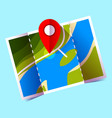 navigation icon red pin on map icon vector image vector image