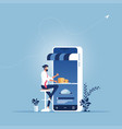 order food delivery on smartphone -food delivery vector image