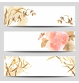 Oriental Style Watercolor Banners vector image vector image