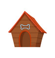 pet shop icon dog house pet accessory vector image vector image