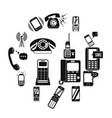 phone simple icons vector image