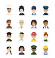 professions and occupations avatar vector image