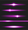 purple laser beams pack vector image vector image