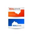 Real estate logo design Real Estate business vector image vector image