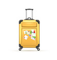 realistic 3d travel suitcase bag vacation vector image vector image