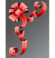 red ribbon EPS10 vector image vector image