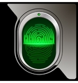 Safety device fingerprint reade vector image vector image