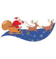 Santa sleigh vector image vector image