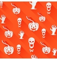 Seamless Halloween background Light flat icons vector image vector image