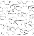 Set of the different sun glasses pattern vector image vector image