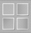 set white square photo card frames vector image vector image