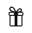 simple black icon of Present on white background vector image vector image