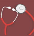 stethoscope with red background in vector image vector image