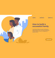 successful family landing page website mockup vector image vector image