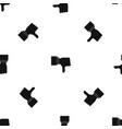 thumb down gesture pattern seamless black vector image vector image