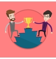 Two men competing for the business award vector image vector image