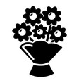 wedding flower bucket icon simple style vector image