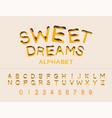 work of sweet dreams sugar cupcake candy donut vector image