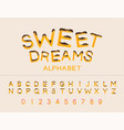 work sweet dreams sugar cupcake candy donut vector image