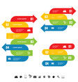 infographic set with arrow color vector image