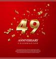49th anniversary celebration golden number 49