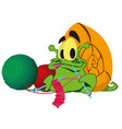 a green snail ute cartoon snail on white vector image vector image