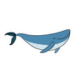 a small cartoon whale vector image vector image