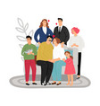 adoptive parents concept vector image